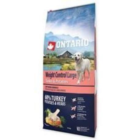 ONTARIO Dog Large Weight Control Turkey&Potatoes 12kg