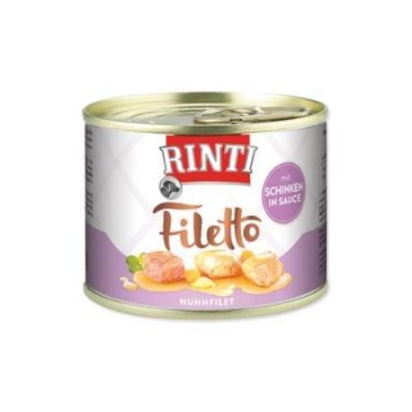 Rinti Dog Filetto konzerva kuře+šunka ve šťávě 210g