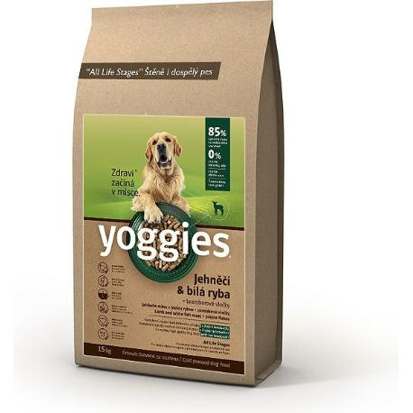 Yoggies 15kg jehněčí a bílá ryba
