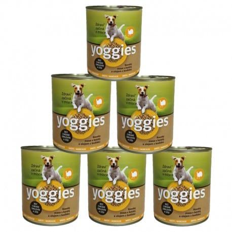 Yoggies konzerva Krůtí, batáty a bodlákový olej 6x800g