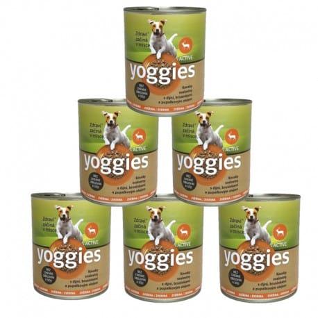 Yoggies konzerva Zvěřina, dýně a pupálkový olej 6x800g