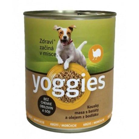 Yoggies konzerva Krůtí, batáty a bodlákový olej 800g
