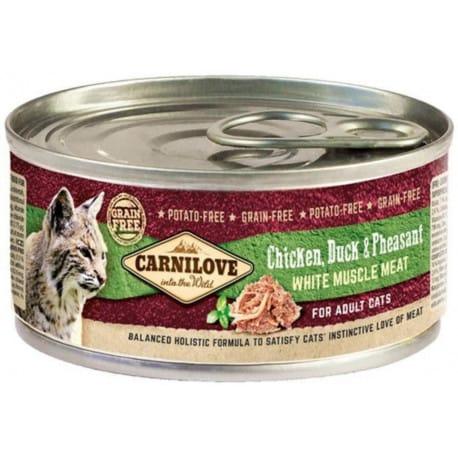 Carnilove White konz Mus Meat Duck&Pheasant Cats 100g