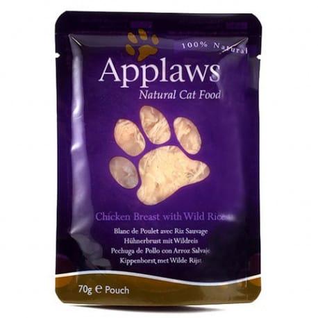 Applaws kapsička Cat kuřecí prsa a divoká rýže 70g