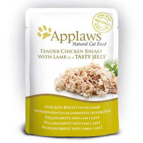 Applaws kapsička Cat JELLY kuřecí prsa a JEHNĚČÍ v želé 70g
