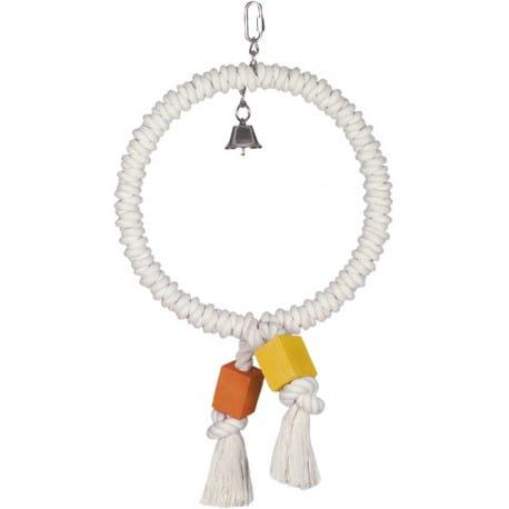 Nobby hračka pro papoušky bavlněný kroužek 48 x 27,5