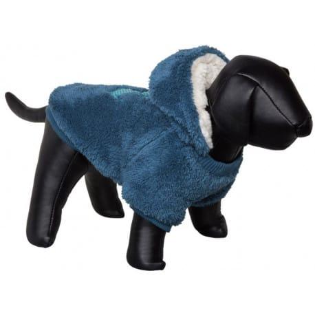 Nobby Teddy oboustranná mikina pro psy s kapucí modrá