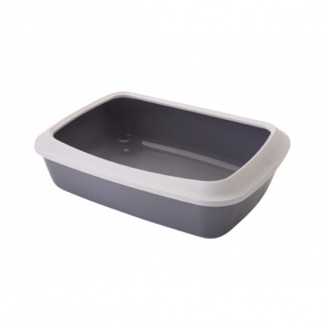 Savic Isis Large šedá toaleta pro kočky s okrajem 50x