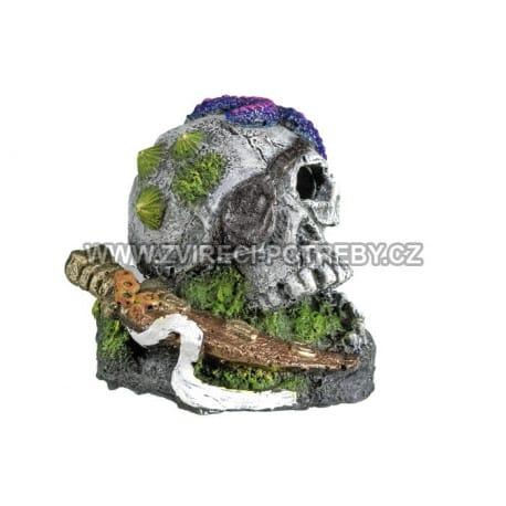 Nobby akvarijní dekorace pirátská lebka 7,5 x 7,7 x 6,7cm