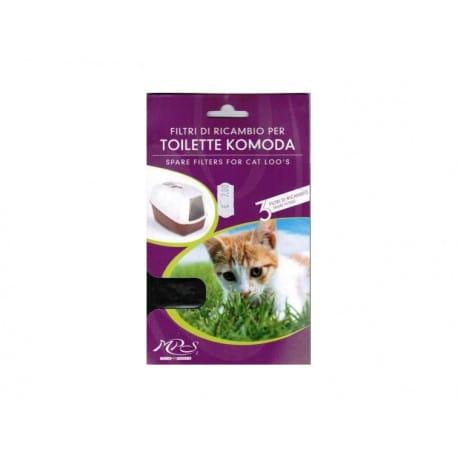 Nobby filtr do kočičí toalety Komoda 3ks