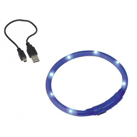 Nobby Led Visible modrý svítící obojek silikon 40cm