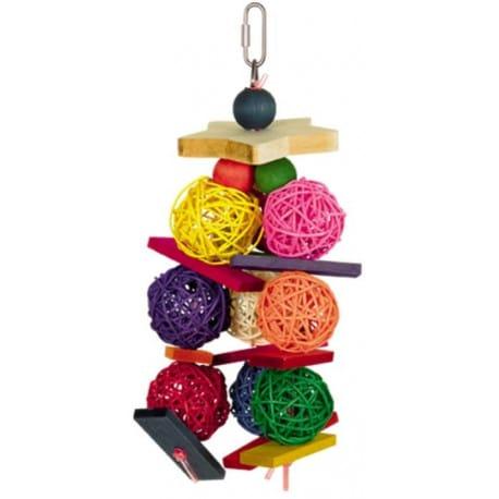 Nobby hračka pro střední papoušky proutěné kuličky 25cm