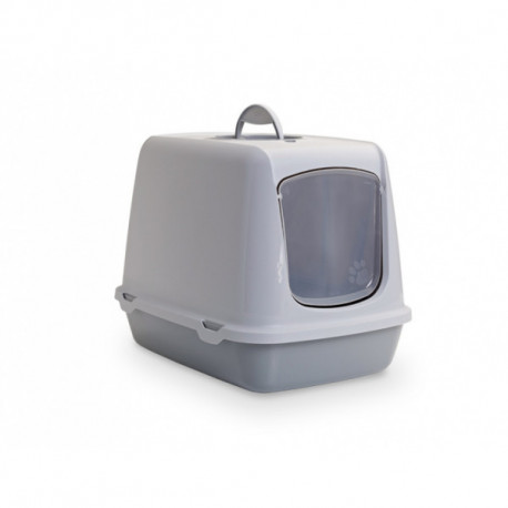 Savic Oscar šedá toaleta pro kočky 50x37x39cm