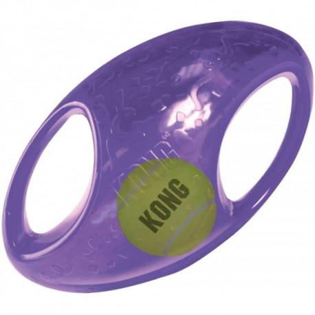 Kong Jumbler hračka pro psy gumový míč rugby M/L 17,5
