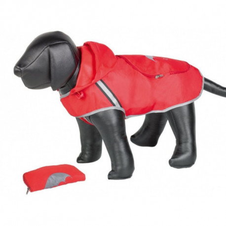 Nobby Rainy červená reflexní pláštěnka pro psa 40cm