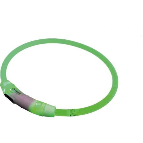 Nobby Starlight svítící obojek ABS plast zelená 45cm