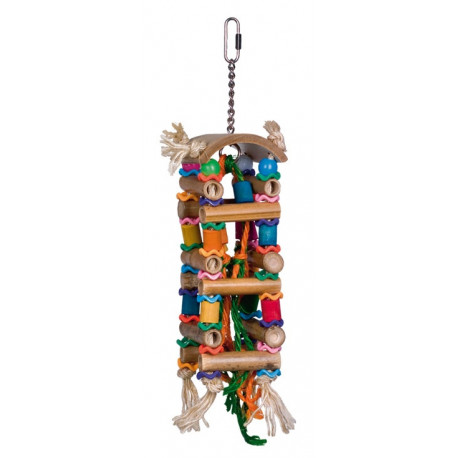 Nobby aktivní hračka pro papoušky bambusová věž 33x8cm
