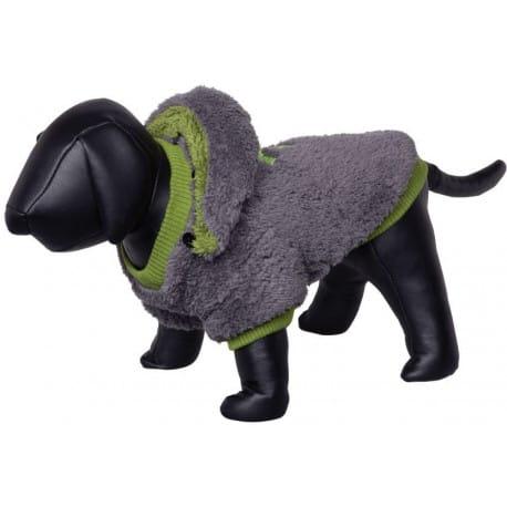 Nobby Teddy oboustranná mikina pro psy s kapucí šedá 32cm