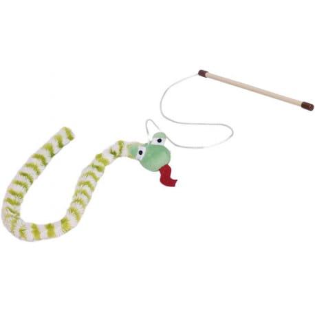 Nobby hračka pro kočky udice had zelený 118cm