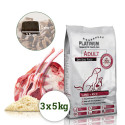 Platinum Adult Lamb+Rice 15kg