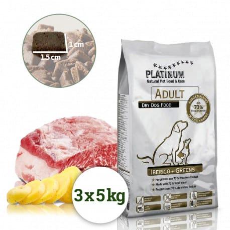 Platinum Adult Iberico+Greens 15kg