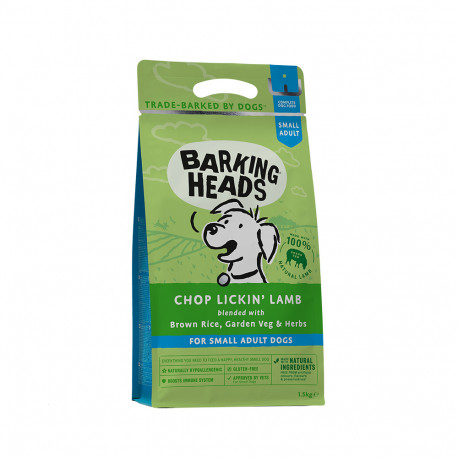 BARKING HEADS Chop Lickin' Lamb (Small Breed) 1,5kg