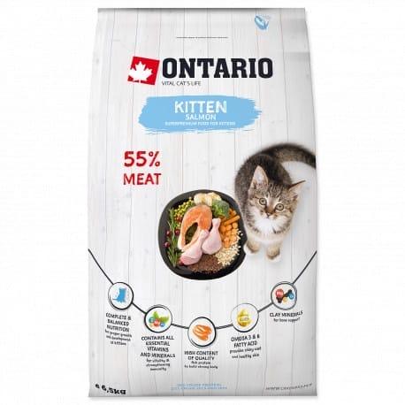ONTARIO Kitten Salmon 6,5kg NEW