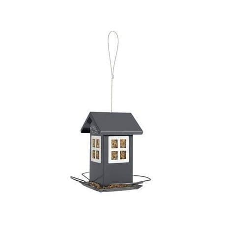 Budka krmítko HOUSE kovová šedá Zolux