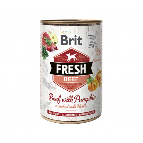 Brit Dog Fresh konz Beef with Pumpkin 400g