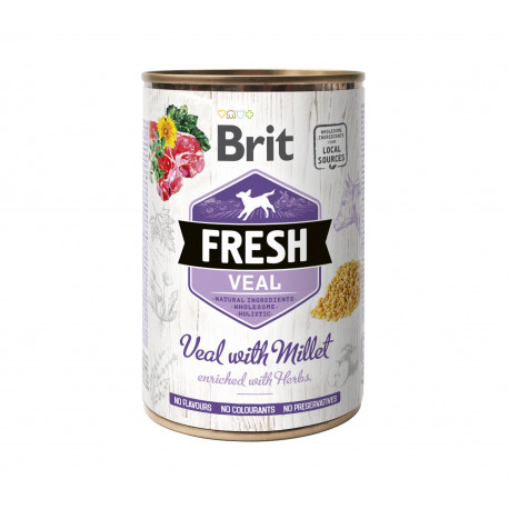 Brit Dog Fresh konz Veal with Millet 400g