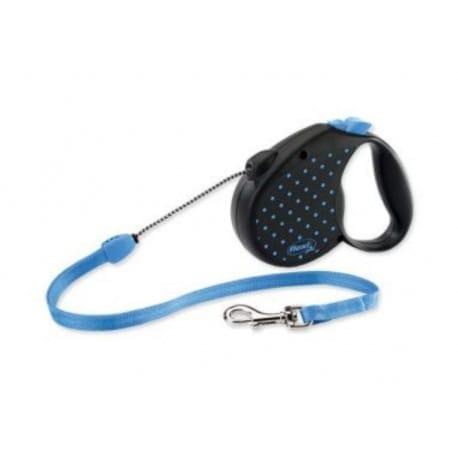 Vodítko FLEXI Color Dots S lanko 5m/12kg modrá