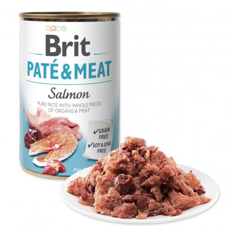 Brit Dog konz Paté & Meat Salmon 800g