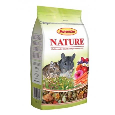 Avicentra Nature Premium činčila+osmák 850g