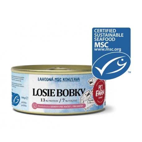 Konzerva pro kočky Pet Farm Family Losie bobky 100 g