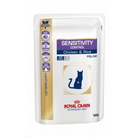 Royal Canin VD Feline Sensit Control 12x100g kuře kap