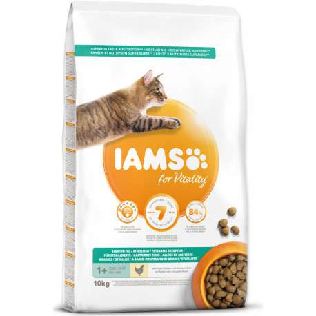 Iams Cat Adult Weight Control Chicken 10kg