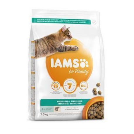Iams Cat Adult Sterilized Salmon 1,5kg