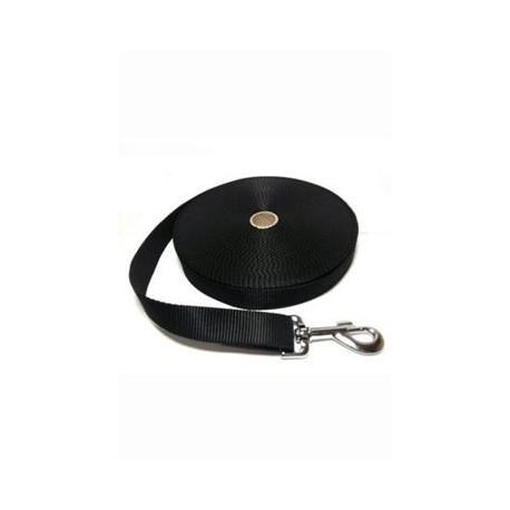 Vodítko DINOFASHION stopovací popruh černé 10m/2,5cm