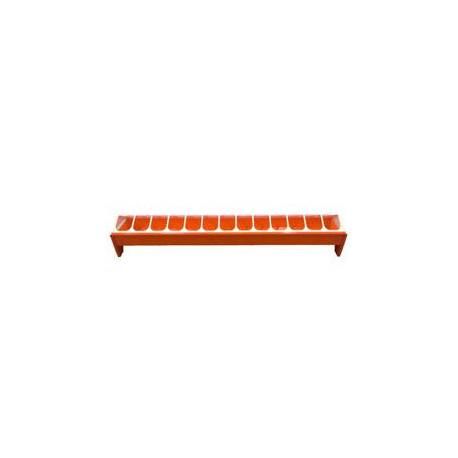 Krmítko pro slepice žlabové 50cm oranžové, plast
