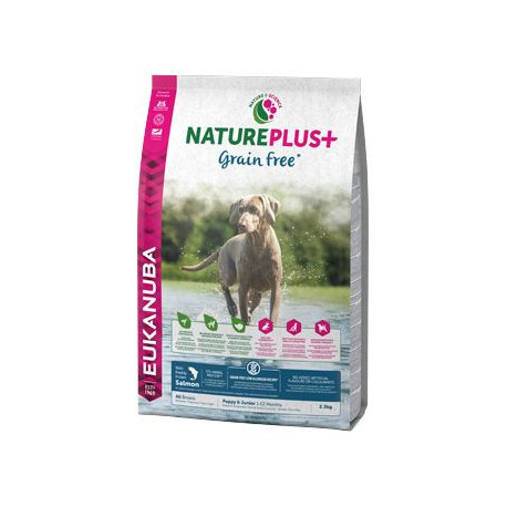 Eukanuba Dog Nature Plus+ Puppy Grain Free Salmon2,3kg