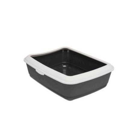 WC kočka s rámem Classic 47x37x15cm TR tmavošedá