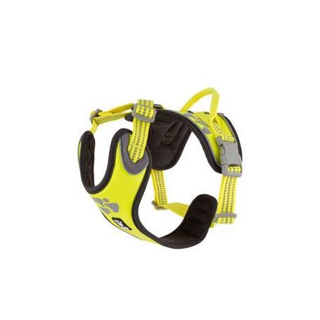 Postroj Hurtta Weekend Warrior neon citrónový 40-45cm