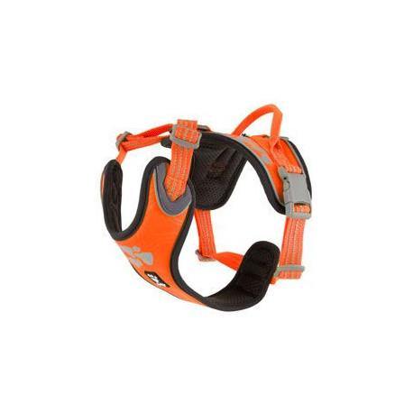Postroj Hurtta Weekend Warrior neon oranžový 60-80cm