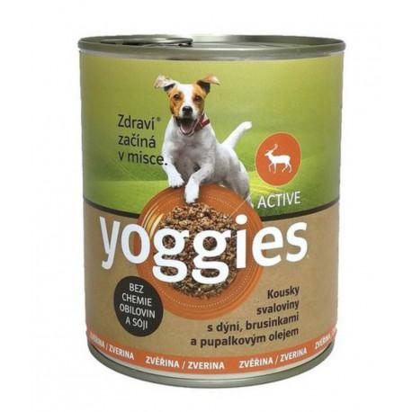 Yoggies konzerva Zvěřina, dýně a pupálkový olej 800g