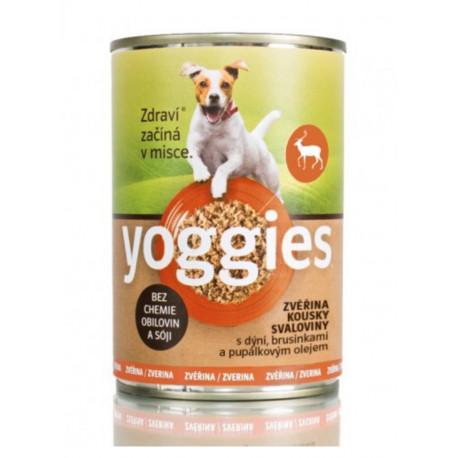 Yoggies konz. Zvěřina, dýně, pupálkový olej 400g