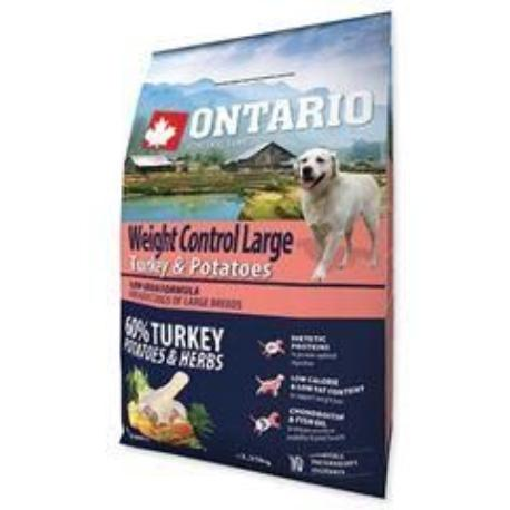 ONTARIO Dog Large Weight Control Turkey&Potatoes2,25kg