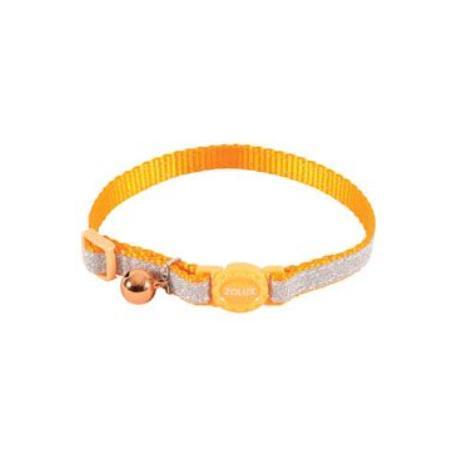 Obojek kočka SHINY nylon oranžový 10mm/30cm Zolux