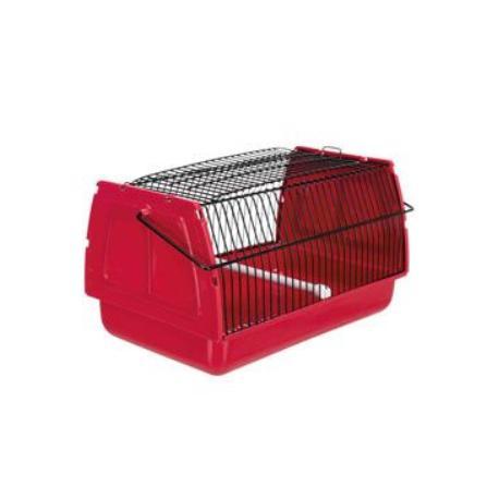 Přepravka pro ptáky 30x18x20cm plast červená 1ks TR