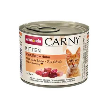 Animonda Carny Kitten konz. drúbeží +telecí 200g