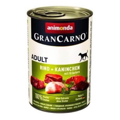 Animonda GRANCARNO konz. ADULT králik pes 400g